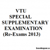 VTU Special supplementary examination dates announced for 2013 | Re-exams for CIPE 18/28, CIV18/28, MATDIP401, MATDIP301