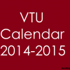 VTU Academic Calendar for odd semester 2014-2015 | 1st August 2014 College reopens