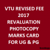 VTU Revised Fees for Engineering marks card, Revaluation, Photocopy of Answer Papers for UG and PG Courses