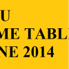 VTU Time table June – July 2014 for 1st,2nd,3rd,4th,5th,6th,7th,8th sem exams | VTU Timetable 2014