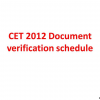 CET 2012 Document verification schedule announced: Rank wise document verification and centers for document verification for CET 2012