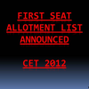 CET 2012 online counseling: Seat allotment list announced, check which college you have got: Admissions open for engineering colleges for 2012-2013 in Karnataka through CET: Options in CET 2012 after first allotment