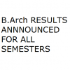 VTU B.Arch 1st,2nd,3rd,4th,5th,6th,7th,8th,9th Sem Results Announced of June/July 2012 Examinations | Architecture results announced