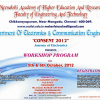 Meenakshi Academy of Higher Education and Research, Technical Symposium, Chennai on October 5-6 2012′