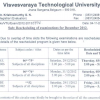VTU time table for december 2012 jan 2013 examinations