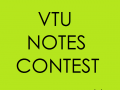 VTU Notes Contest 2015 | VTU Notes and Study Materials Contest for VTU students