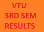 VTU results 3rd sem Jan 2017 for B.E/B.Tech Announced