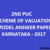 Karnataka 2nd PUC Scheme of Valuation (Model Answers) for March 2017 Examinations