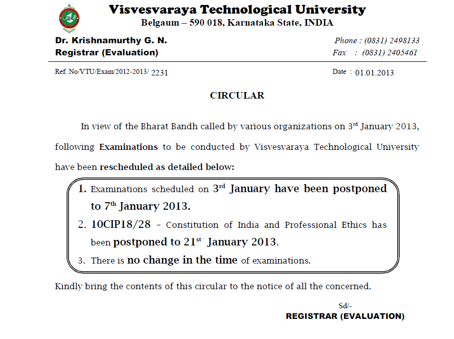 Time Table of 7th sem Rgpv Year